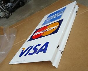 Credit Card Metal Sign master visa express business Store Advertise 2 Sided new