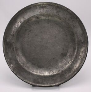 Antique Bb 1739 Pewter 11 25 Charger Metal Plate Julia B Kuttner 2nd Ave Nyc