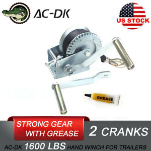 Ac Dk 1600lb Hand Strap Winch Manual Winch Trailer Winch Strong Gear Boat Winch