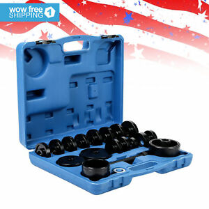 23 Pcs Front Wheel Bearing Removal Adapter Tool Puller Pulley Kit Fwd Drive
