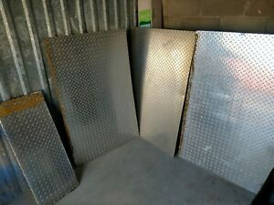 3 Sheets Of Diamond Plate Measuring Approximately 47 X 31 Each Used