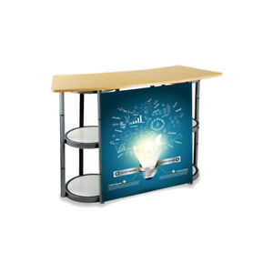 55 1 Portable Spiral Tower Display Case Counter clear Panels And Custom Graphic