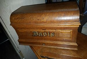 Antique Unbelievable Davis Sewing Machine W Rare 7 Drawer Treadle Cabinet Nice