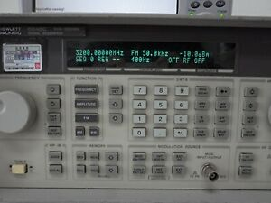 Hp 8648c Synthesized Rf Signal Generator 9khz To 3200 Mhz Opt 1e5 1e6 1ea