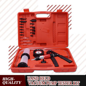 21pcs Brake Fluid Bleeder Bleeding Kit hand Held Vacuum Pressure Pump Tester Set