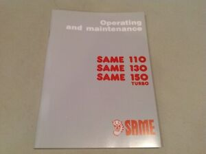 Same 110 130 150 Turbo Tractor Operating And Maintenance Manual
