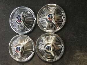 1965 Ford Mustang Hubcaps Wheel Covers 13 Spinners Factory Set Of 4 984