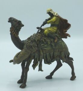 Cold Painted Bronze By Franz Bergman Foundry Signed Bedouin On Camel Hunt