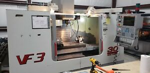 Used Haas Vf 3 Cnc Vertical Machining Center Mill 10 000 Rpm Tsc 40x20 Ct40 2000
