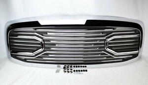 Chrome Big Horn Front Hood Grille Shell For Dodge Ram 1500 2500 3500 2006 2008