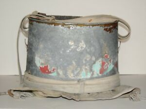 Idaho Farm Fresh Antique Picking Galvanized Metal Pail W canvas Bag Harness