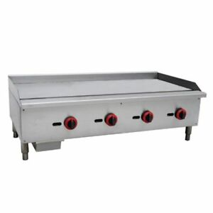 Commercial Kitchen Countertop Gas Griddle 48 120 000 Btu 3 4 Plate