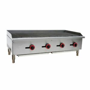 Commercial Kitchen Gas Char broiler Radiant 48