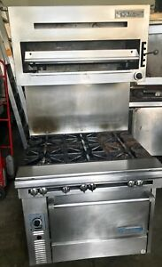 Garland us Range 6 Burner W convection Oven And Salamander Ng