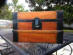 Refinished Doll Trunk With Key