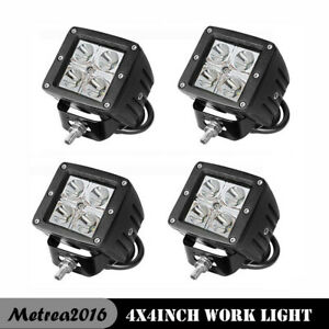 4x 3inch 24w Led Work Light Flood Cube Pods Off Road Boat For Atv Lamp Jeep