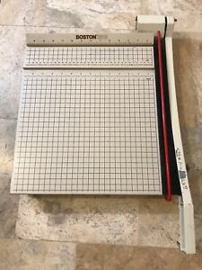 Vintage Boston 2615 Paper Trimmer Cutter Guillotine Style 15 Square