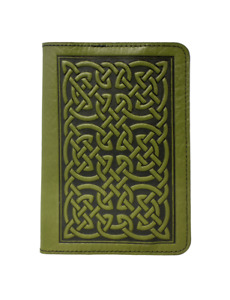 Bold Celtic Oberon Design Custom Fern Leather Pocket Notebook Or Moleskine Cover