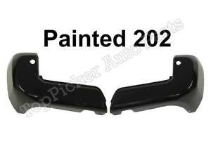 Painted 202 Black Rear Bumper End W Sensor Hole Set For Toyota Tacoma 2016 2018