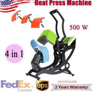 Cap Hat Heat Press Machine Heating Transfer Machine Diy Print Pattern 4 In 1 New