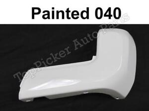 Rear Bumper End Painted 040 Super White W O Sensor Rh For Toyota Tacoma 2016 18