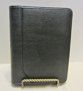 At a glance Planner Date Book Black Pebbled Leather 8 X 10 New