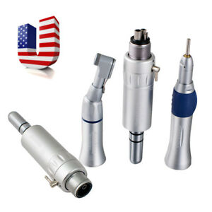 Dental Slow Low Speed Handpiece Contra Angle Straight Air Motor 2 4 Hole