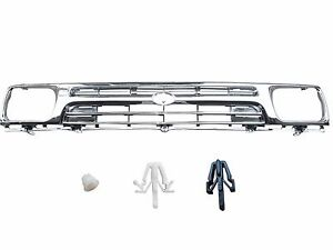 Fit For Toyota Pickup Hilux 2wd 1992 95 Fully Chrome Grille W Clip