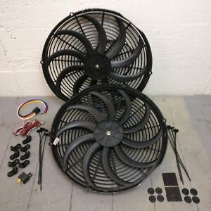 1961 1966 Ford Truck Econoline Van 2x 16 Inch Fan Cooling Kit Push Pull