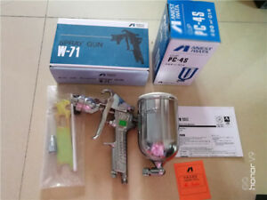 Anest Iwata Spray Gun W 71 Suction Gravity 1 3mm Nozzle 400ml Cup Japan Made