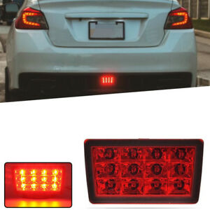 For 2011 subaru Wrx Sti Xv Impreza Red Led Flasher 3rd Brake Light Tail Lamp