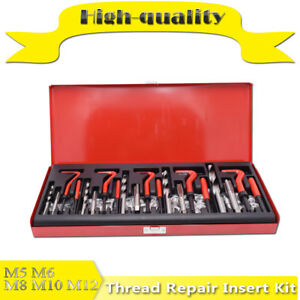 131 Piece Helicoil Type Thread Repair Kit M5 M6 M8 M10 M12 Twist Drill Bits
