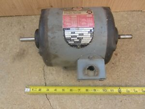 Delta Rockwell Motor 1 2 Hp 3 Phase Double 1 2 Diameter Shafts