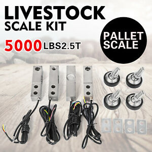 Livestock Scale Kit Floor Scale Load Cell Kit 5000lbs squeeze Chute Pallet Scale