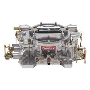 Edelbrock Carburetor 9905 S Reconditioned Performer 600 Cfm 4bbl Vacuum Satin