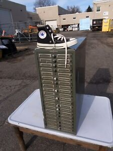 Vintage Industrial 20 Drawer File Cabinet Global Wernicke