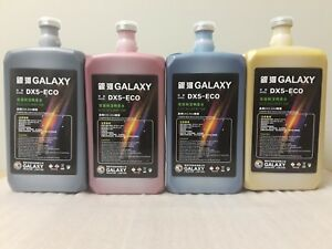 Eco Solvent Ink Dx4 Dx5 Dx6 Dx7 Roland Mimaki Mutoh Printers 4 Liters Galaxy Usa