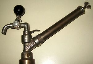 Vtg Antique Solid Brass Faucet Spout Beer Tapper Steampunk Perlick Milwaukee Wi