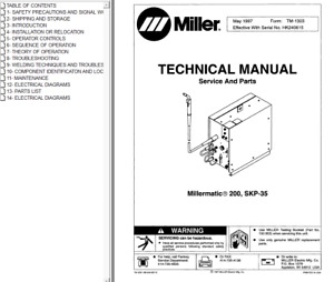 Miller Millermatic 200 Skp 35 Service Technical Manual