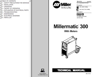 Miller Millermatic 300 With Meters Service Technical Manual