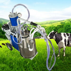 25l1440rmp min Electric Milking Machine Farm Cow Bucket Vacuum Piston Pump 304