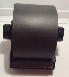 Black Metal Rolodex Rotary Flip Card File With Index Cards Vintage