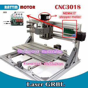 3 Axis 3018 Diy Mini Laser Machine Grbl Control Cnc Engraving Milling Router Kit