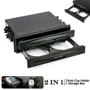High Plastic 1p Car Double Din Radio Installation Pocket Cup Holder Storage Box