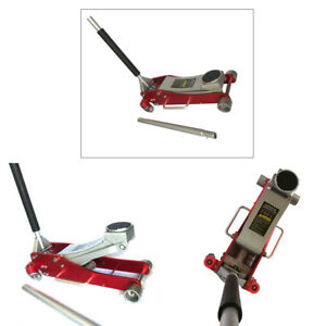 3 Ton Air Hydraulic Floor Jack W handle And Manual Red