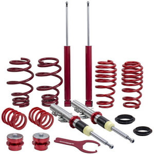 Coil Spring Suspension Absorber Coilovers Kit For Vw Polo 9n fox 1 2