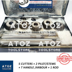5 Pieces Valve Seat Face Cutter Set Automotive Industry Leaders Export Quality