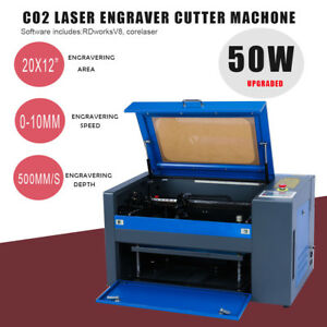 50w Co2 Laser Engraving Cutting Machine Engraver 110v Usb Cutter New