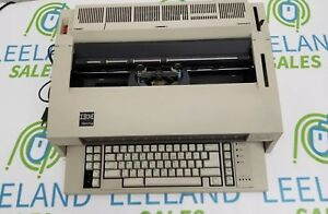 Vintage Ibm Wheelwriter 6 Electric Typewriter Tested Working missing 2 Keys