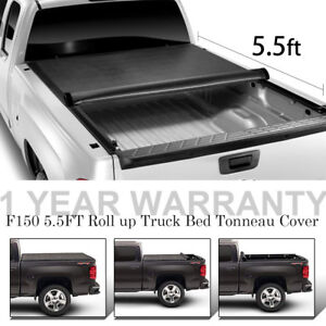 Soft Roll Up Truck Bed Cover For 2014 2018 Ford F150 5 5ft Tonneau Cover